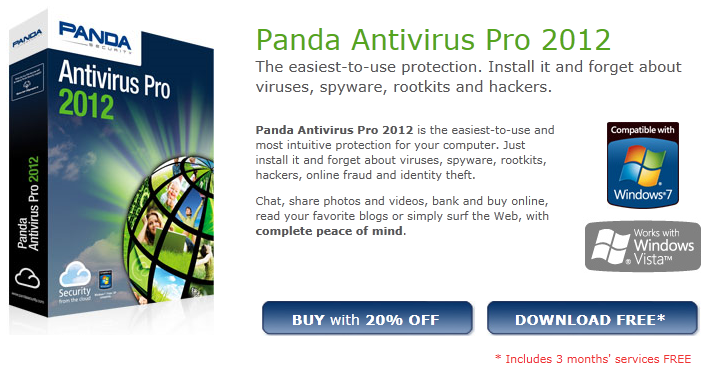 active panda cloud antivirus pro button to avail the pro version free