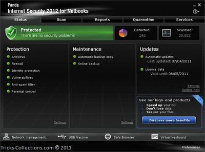 Panda Internet Security 2012 for Netbooks