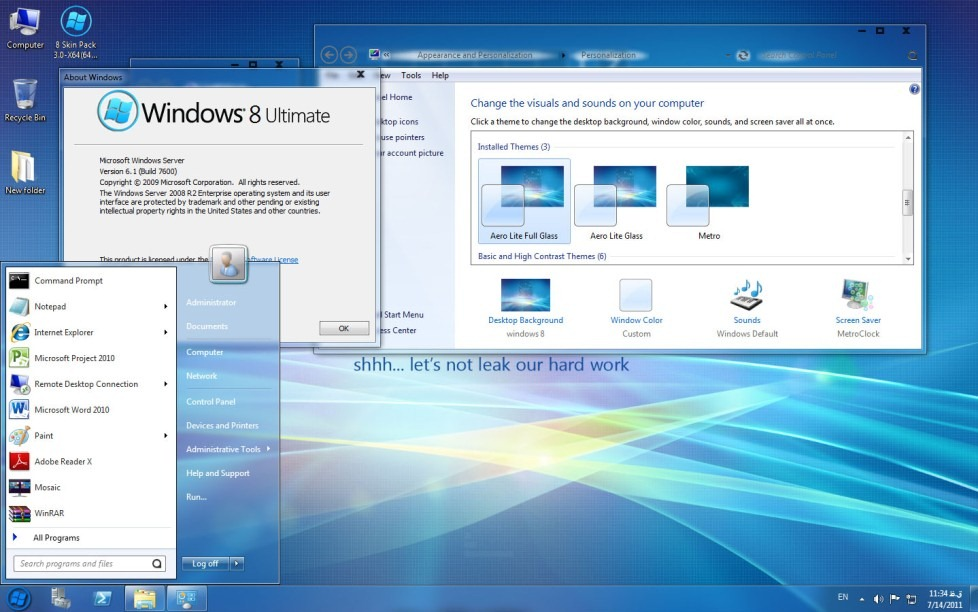 free  windows 8 theme for windows xp sp3