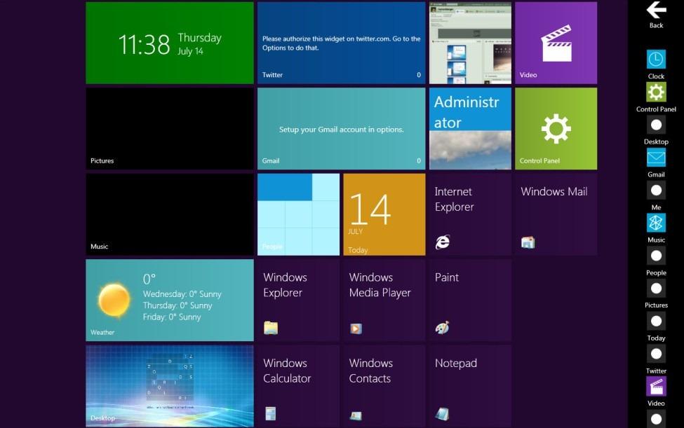 Get windows 8 metro ui live tiles on windows 7.