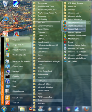 Eindows 7 Classic Start Menu