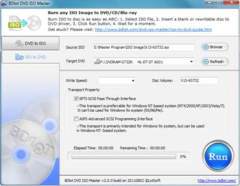 BDlot DVD ISO to DVD Burner