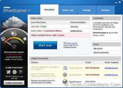 Uniblue Driver Scanner  2011