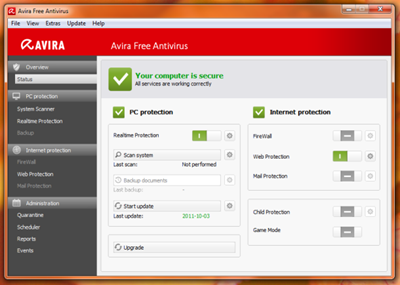 Avira Free Antivirus 12