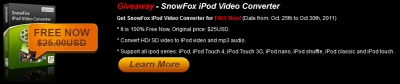 Giveaway SnowFox iPod Video Converter