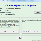 Software Resetter Epson TX700 and TX 720WD