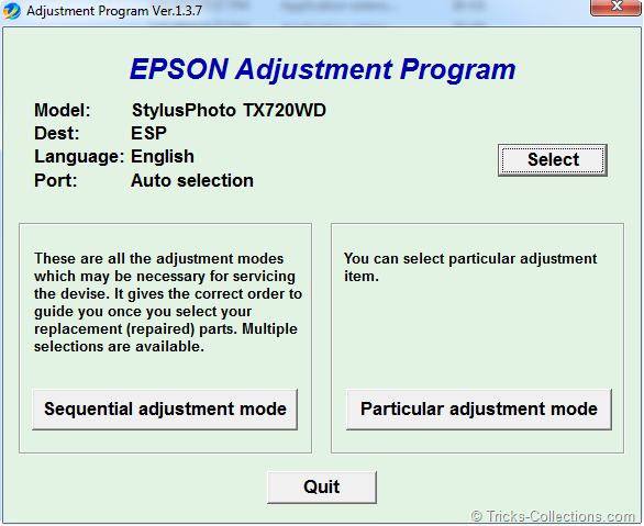 Software Resetter Epson TX700 and TX 720WD | Tricks