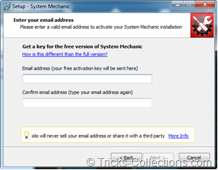 iolo System Mechanic Free Registration Form