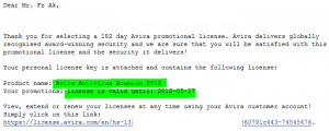 Avira Antivirus Premium 2012 License Code
