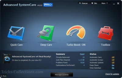 Advanced System Care Pro 4