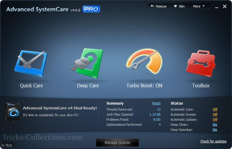 iobit advanced systemcare pro free license