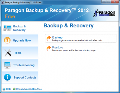 Paragon Backup and Recovery 2012 Free
