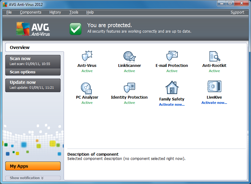 AVG Anti-Virus 2012 License Key Free 1 Year | Tricks-Collections.Com
