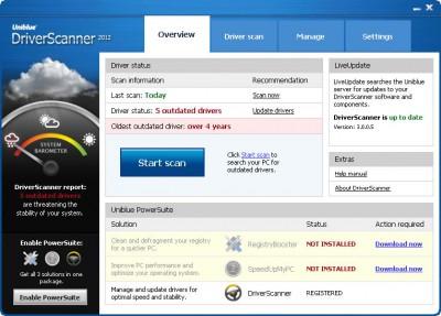 Uniblue Driver Scanner  2012