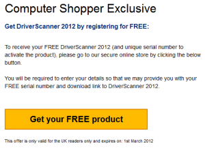 Uniblue Driver Scanner 2012 License Key