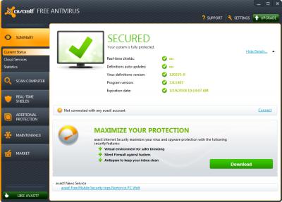 Avast 7 free Antivirus