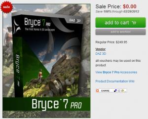 Bryce 7 Pro free