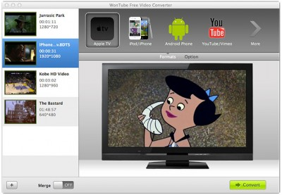WonTube Free Video Converter for MAC OS X