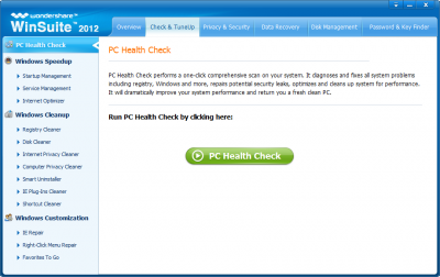 Wondershare WinSuite 2012 PC Health Check
