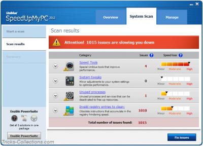 New SpeedUpMyPC 2012 System Scan