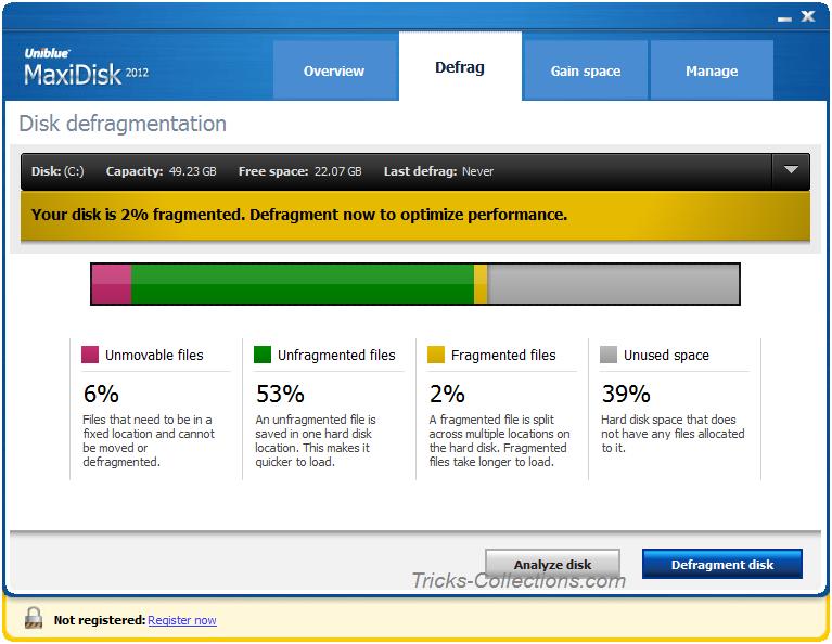 Uniblue Release MaxiDisk, Hard Disk Maintenance Tool | Tricks-767