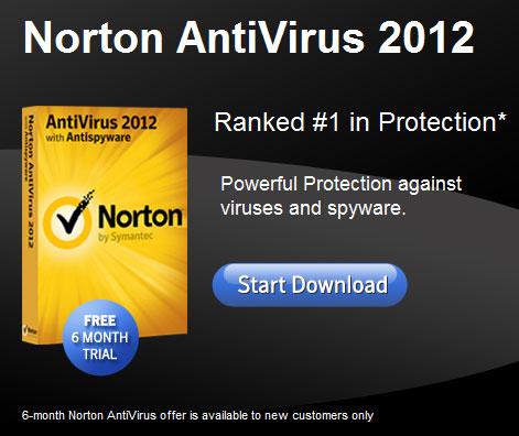 Norton Antivirus 2012 6 Months