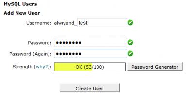 create new user SQL