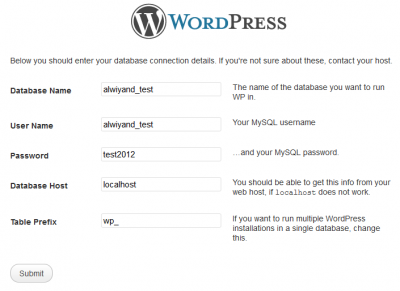 the steps to install wordpress