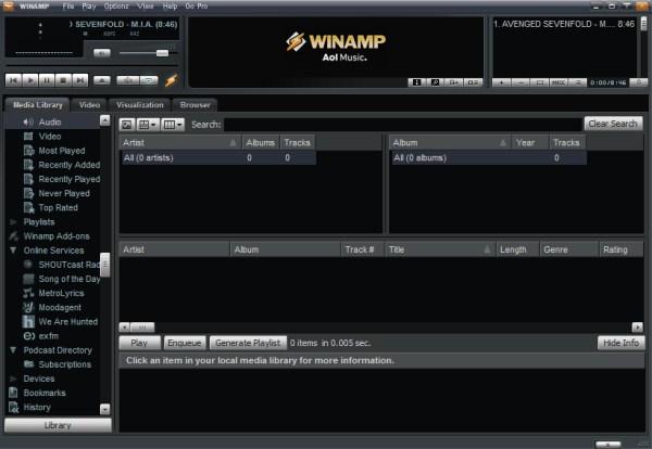 Free Download Winamp Media Player 5.63