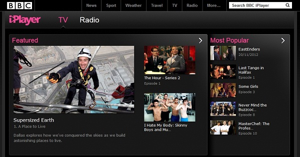 BBC iPlayer for Online TV and Online Radio