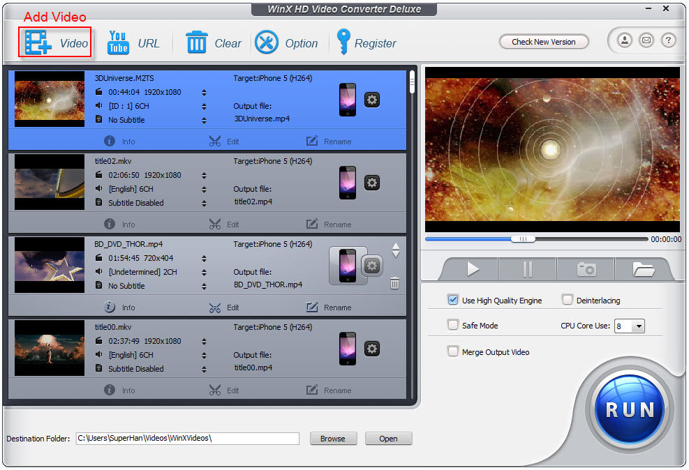 Convert M2TS to iPhoneiPad – Make M2TS Playable on iOS Mobiles and Tablets 2