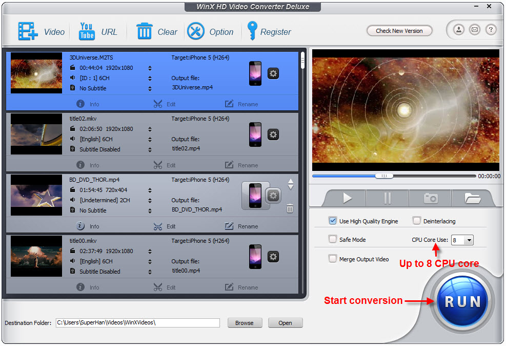 Convert M2TS to iPhoneiPad – Make M2TS Playable on iOS Mobiles and Tablets 4
