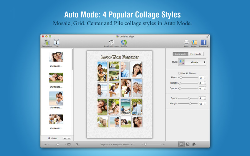 Giveaway for CollageIt 3 – Creative Way to Display Superb Collages on Mac