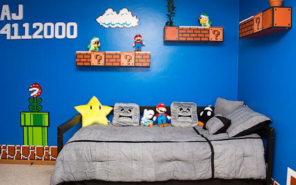 This Kids Bedroom-Inspired Mario Bros Games