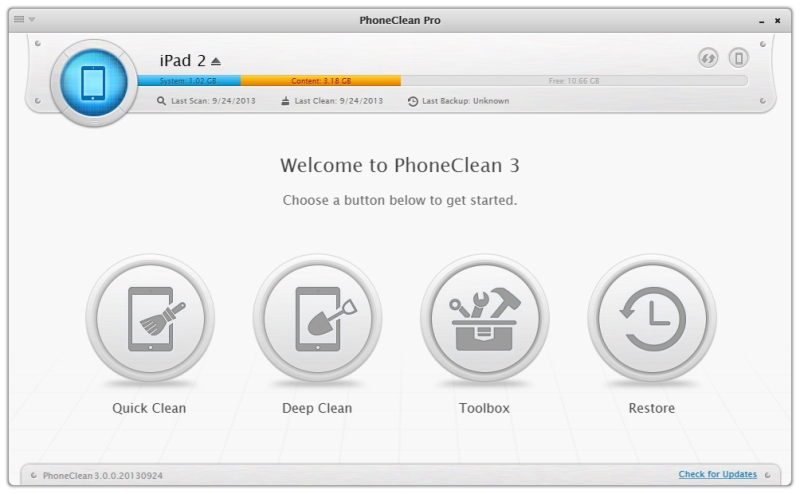 PhoneClean 3 – the World's First iPhone iPad Cleaning and Privacy Care Solution