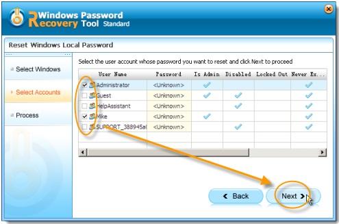 Windows Password Recovery Tool 2