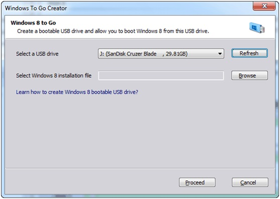 Windows 8 To Go Creator
