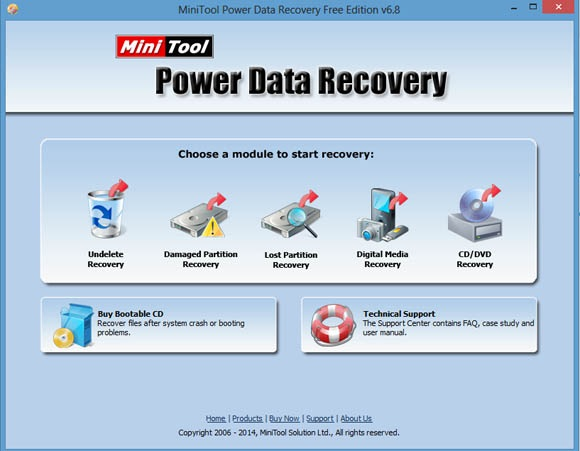 Free File Recovery Software – MiniTool Power Data Recovery 6.8 Review