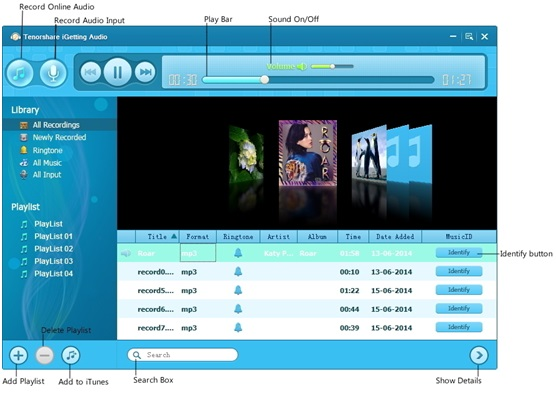 Tenorshare iGetting Audio – Record Any Sound in the World