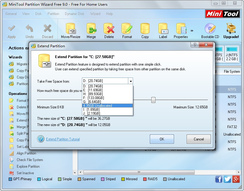 Powerful Partitioning Freeware 9.0 for Windows