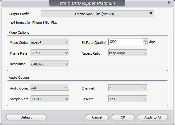 WinX DVD Ripper Platinum 2