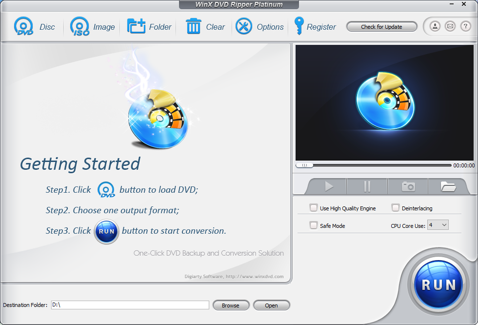 WinX DVD Ripper Platinum - getting started